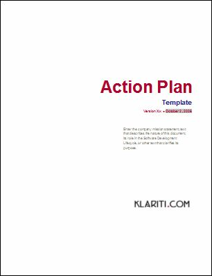 MS Word Action Plan Template