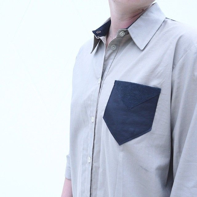 Signe #blouse #details #recycled #leather #pocket