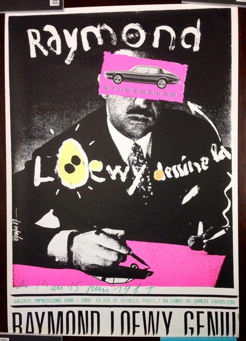 Pierre Bernard (Grapus) Raymond Loewy dessine la Studebaker  (1987)