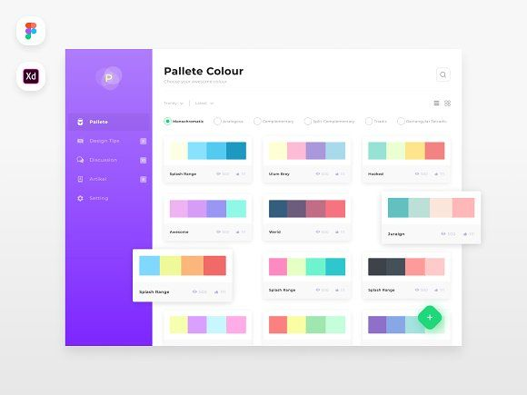 5 Page Dashboard Pallete Website Template Design Templates