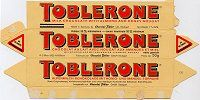 Toblerone chocolate label/box.  For a full board of Chocolate Food Labels, Ads & boxes with 'No Pin Limits', Click here: https://www.pinterest.com/annesminis/~-food-labelsadschocolate-labels-ads-boxes-printab/