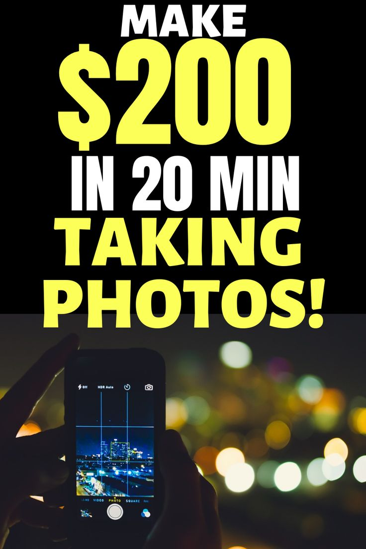 Make $200 in 20 minutes taking photos! – Sonstiges