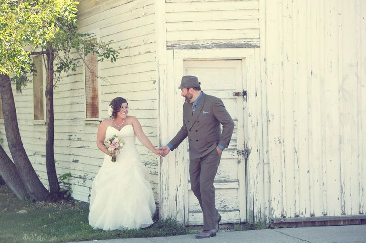 First look. Jessica + Cameron's Country Vintage Wedding | Design + Styling by Kismet & Clover