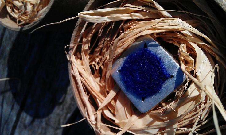 Blue felt ring