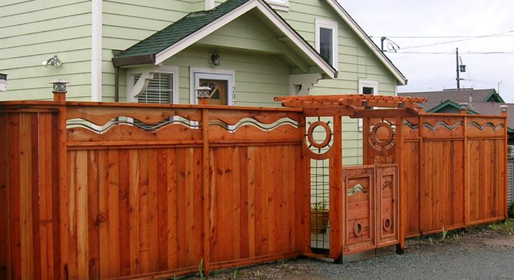 Top 25 ideas about fence design on pinterest fence for Unique privacy fence designs