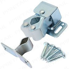 10 x ROLLER CATCH+SCREWS CUPBOARD CABINET DOOR LATCH Double Twin Catches Silver