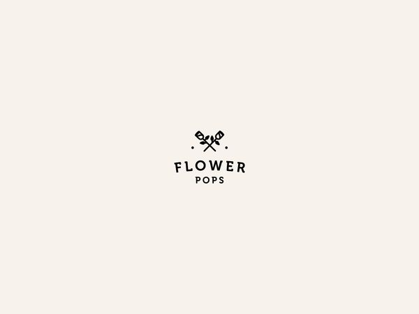 A lot of flower logos by Anna Kovecses, via Behance