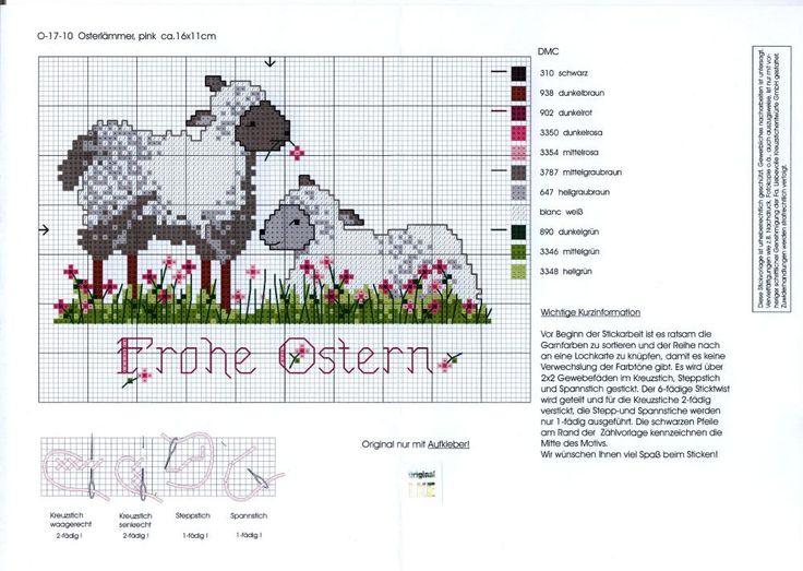 Cross-stitch Sheep Chart, part 2