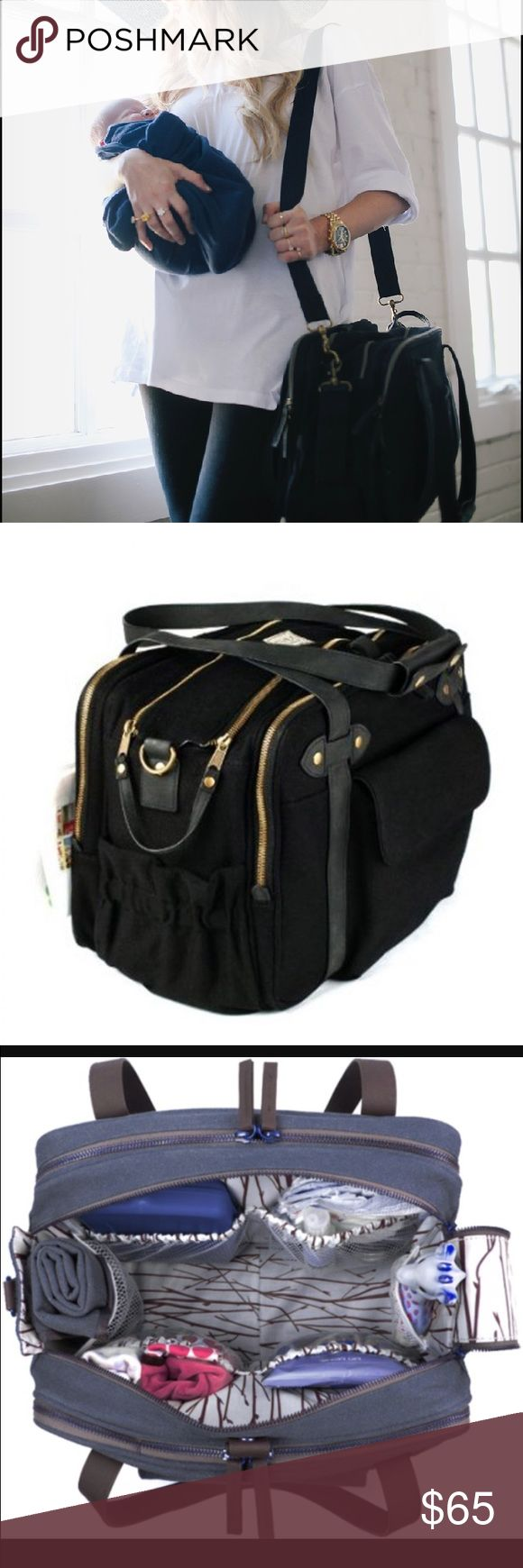 So young Charlie Diaper Bag Black chic diaper bag with plenty of compartments and pockets to keep you organized! Features a large insulated front pocket perfect for bottles and snacks. Roomy inside for all the essential baby needs. Comes with diaper changing pad as well. Excellent condition. ||price is firm on this item, will consider an offer of bundled|| so young Bags Baby Bags