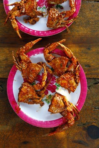 Jaibas Enchipotladas (Pan-Fried Crabs in Chipotle Sauce)