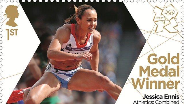 Jessica Ennis gold stamp