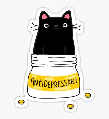 FUR ANTIDEPRESSANT Sticker