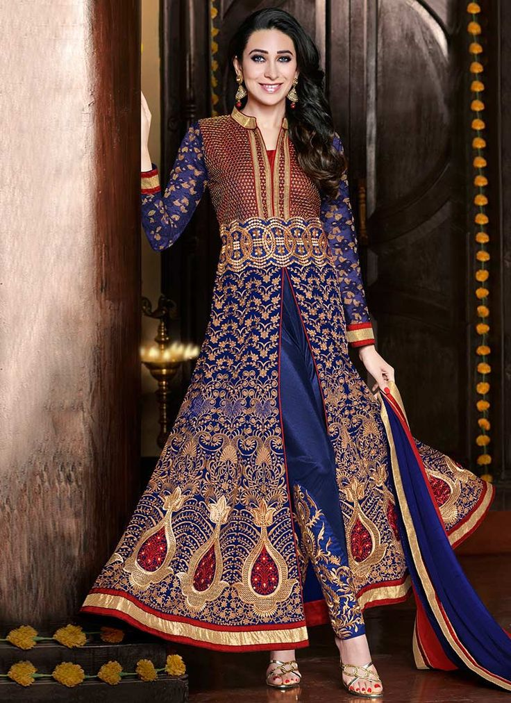 Metroz Blue Embroidery Anarkali Salwar Suit  #designer #salwarsuit #designer #ethnicsuit #shopvoie #pakistanisuit #partywear #fancysuit #anarkali #Blue