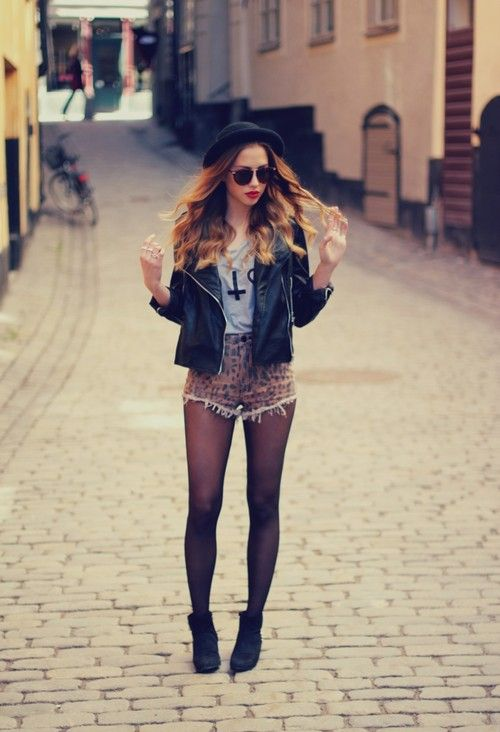 Cheetah shorts. Erhmagherd, I love this outfit.