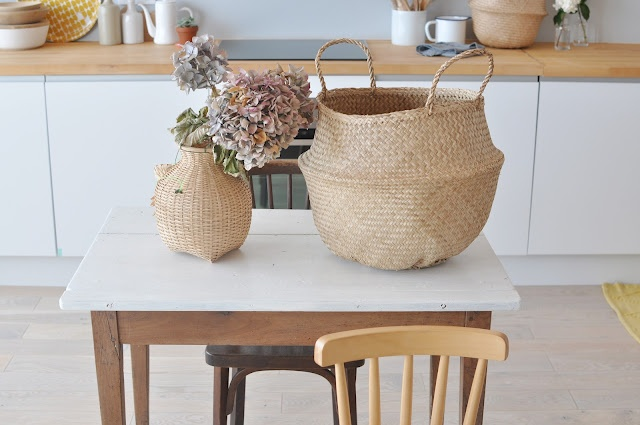 : Woven Baskets, Blog Milk, De Delicadeza, Houses Style, Kitchen, Kitchens Dinning, Cocina Llena, Milk Power, Filled