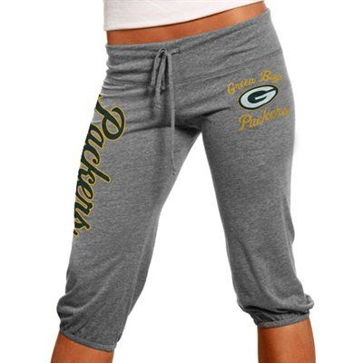 Green Bay Packers Ladies Touchdown Tri-Blend Crop Pants - Steel