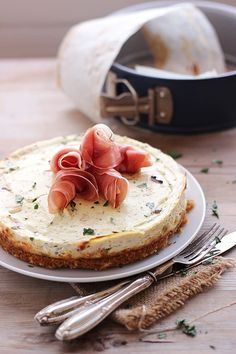 Cheesecake salato ricotta e prosciutto   MIEL & RICOTTA