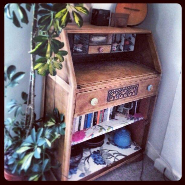 Upcycled decoupage writing bureau