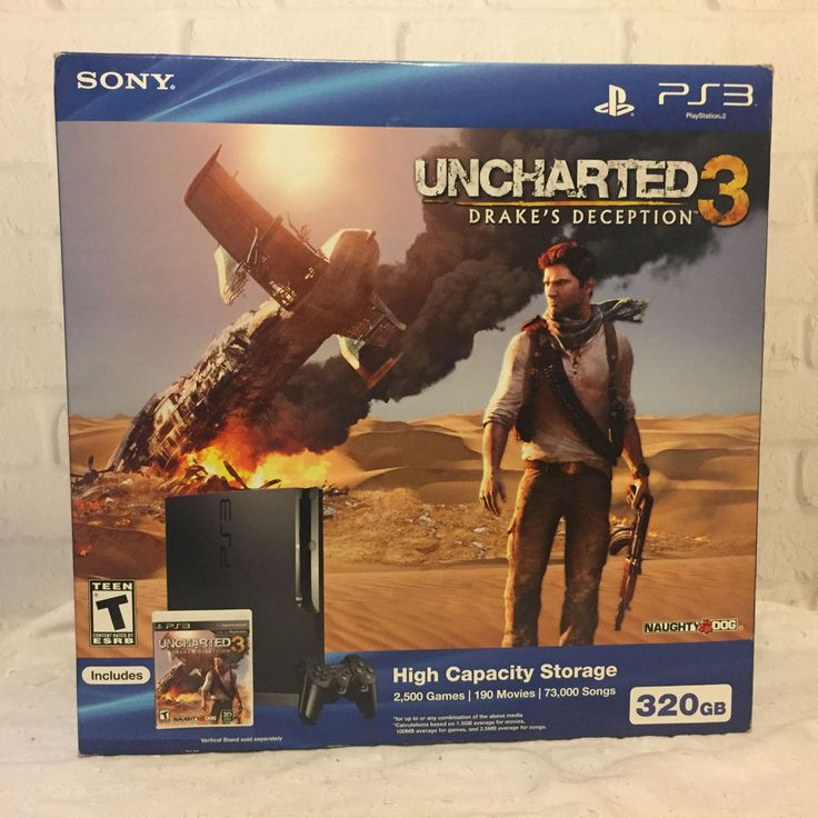 Sony PS 3 System Uncharted Bundle Uncharted GOTY and GTA 5 Game SEE DESCRIPTION #Sony