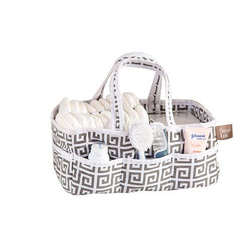 Trend Lab Greek Key Storage Caddy - With the Trend Lab Greek Key Storage Caddy, organizing your home is a breeze. This lightly padded caddy features a Paloma gray and white Greek key...