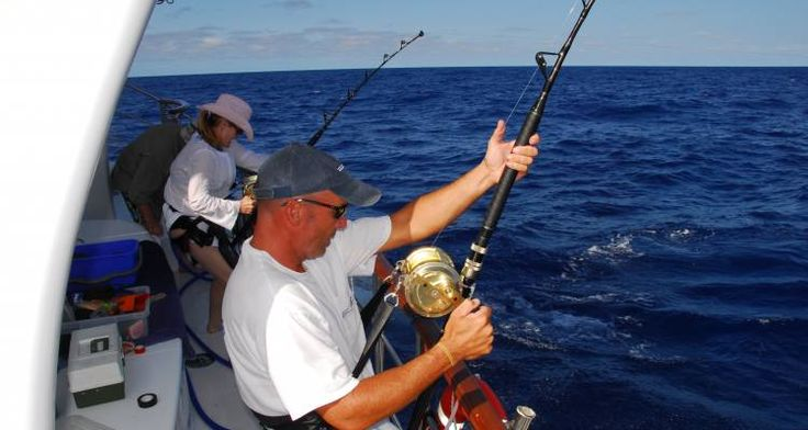 Deep sea fishing in Australia.