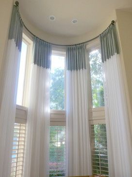 how to dress tall windows traditional living room by bates design associates llc