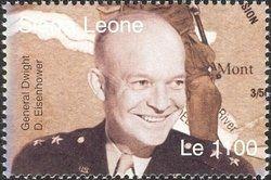 Stamp: General Dwight D. Eisenhower (Sierra Leone) (60th Anniversary of D-Day Landing) Mi:SL 4648,WAD:SL080.04