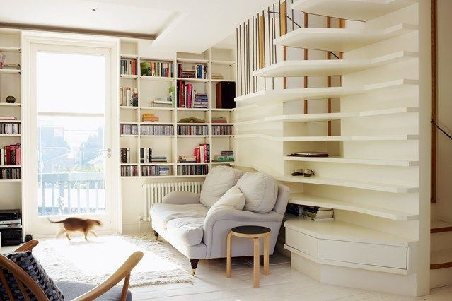 Staircase Bookshelf by Atmos - Living Room Design Ideas & Pictures (houseandgarden.co.uk)