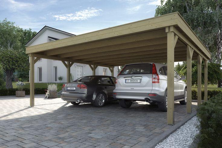 Abri de voiture en bois u2013 18 idées DIY pour abriter son véhicule
