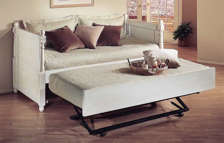 Furniture , Pop Up Trundle Beds : French Daybed Pop Up Trundle Beds