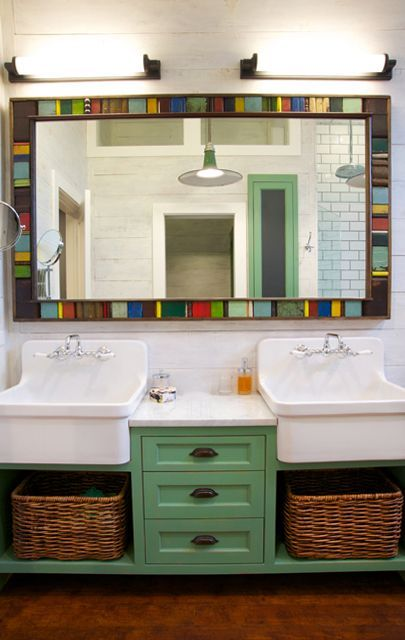 Scott Lyon & Company - double trough sink with cabinets