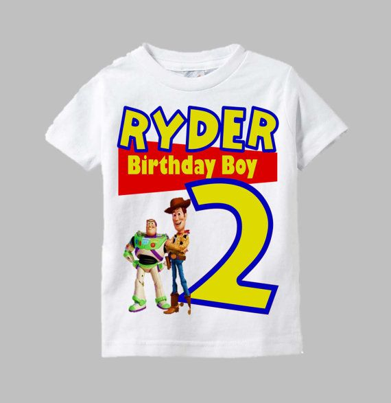 Toy Story birthday shirt design will display his age and special birthday message of your choice (if you would like). Some examples would be - Birthday Prince, Birthday Boy, Happy Birthday, or Look Whos... Custom details can be added in the Notes to Seller section during check out.  Please view current processing times and shop policies HERE   https://www.etsy.com/shop/funfashionsetc/policy?ref=shopinfo_policies_leftnav Size chart can be viewed in the thumbnail above. Custom requests are…