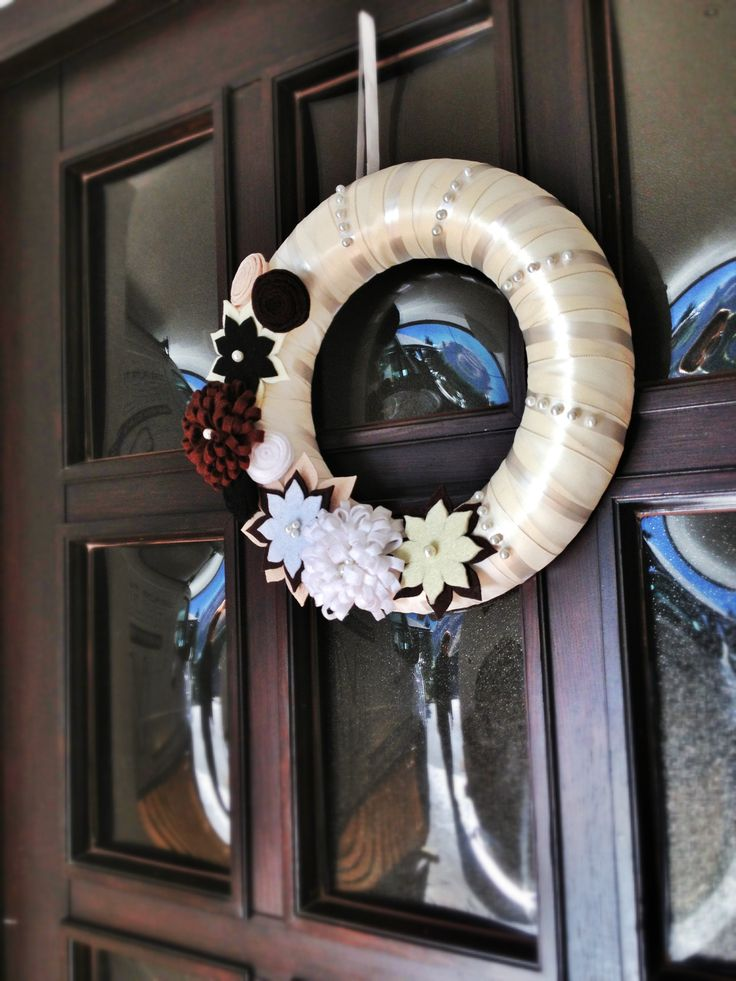 Christmas wreath on the front door