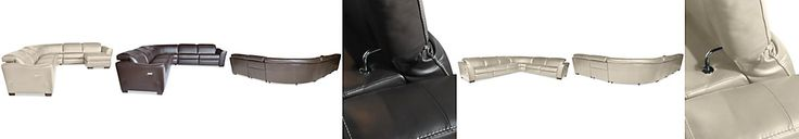 Alessandro Leather 6-Piece Power Motion Sectional (2 Power Chairs, 2 Armless Chairs, Corner, and Armless Power Chair)