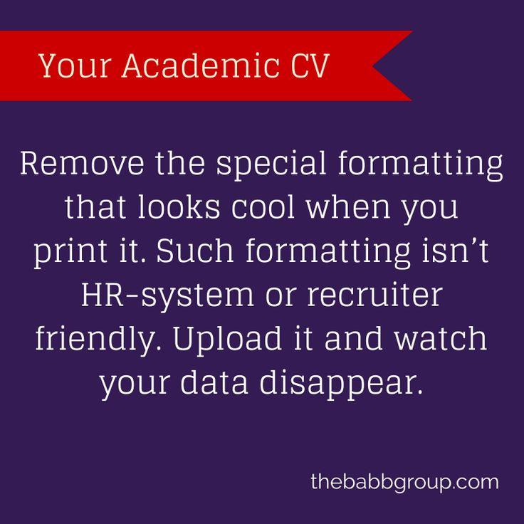 15 best Your Academic CV images on Pinterest Teach online, Cover - academic cv