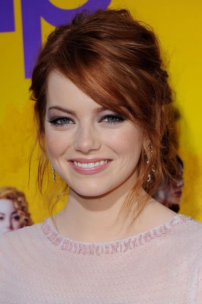 Emma Stone has the same hair colour as my natural colour...I want it back!