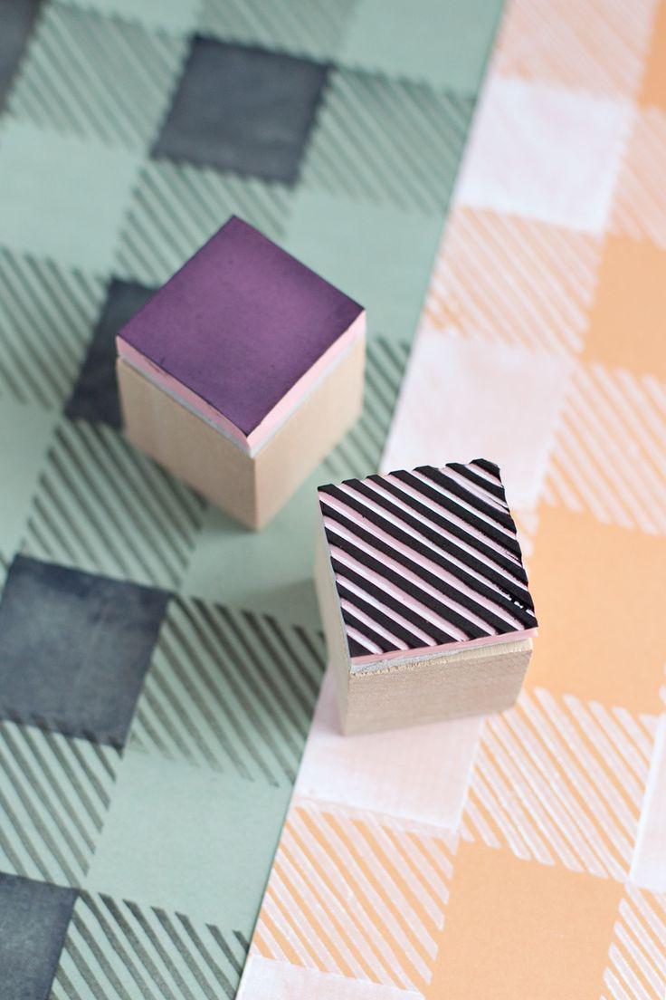 DIY plaid stamp