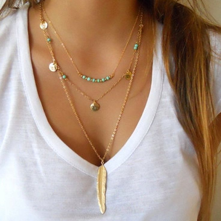 BOHOWILD Feather Chain Necklace // 18K Gold or Silver Plated