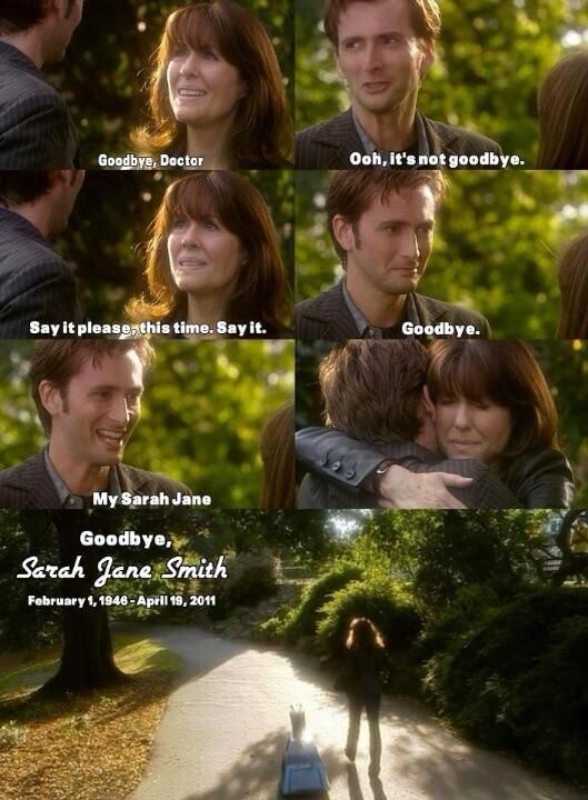 """You always remember """"your first"""". Sarah Jane will always be the best companion. Rest Well Elizabeth Sladen"""