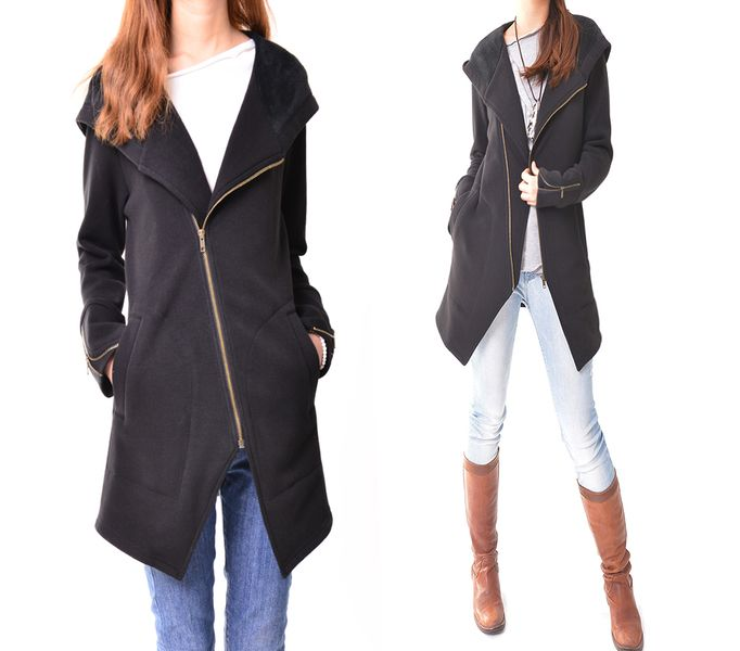 Black swan - thick cotton fleece jacket (Y3119) from idea2lifestyle by DaWanda.com