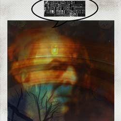 """López (de la colección #8_apellidos_granaínos) Fotografía tomada con una Polaroid SX-70 usando película de color Impossible Project. Revelado artesanal con acelerado mediante técnica de """"agua ardiente"""" Textos con tipografía plúmbica (letterpress)."""