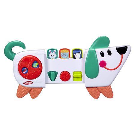 У веселого щенка есть три режима игры: переключай, нажимай и раздвигай. Игра со щенком развивает мелкую моторику, познавательные способности и понимание причинно-следственных связей. Со щенком можно весело играть в прятки. В комплекте есть универсальный ремень, которым игрушку можно прикрепить к коляскам, автокреслам, тележкам для шоппинга.
