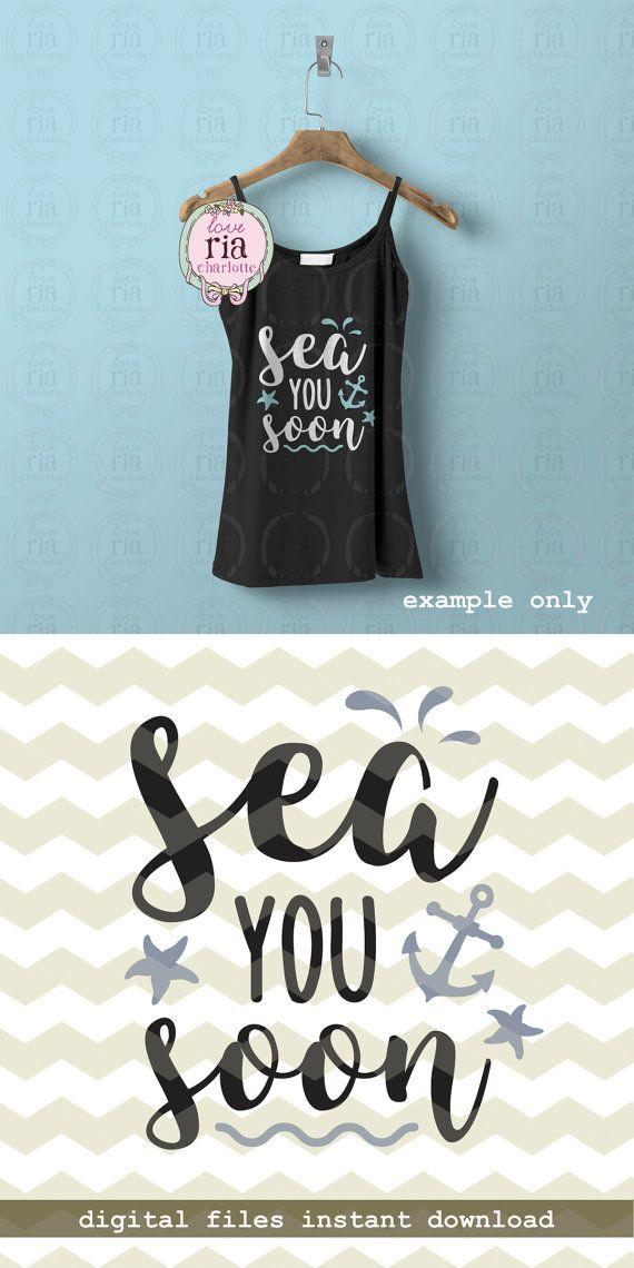 Sea you soon summer party anchor beach ocean fun quote