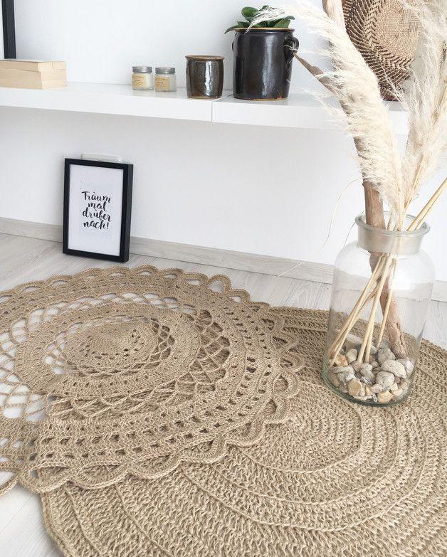 Die 25+ besten Ideen zu Gehäkelte Teppiche auf Pinterest