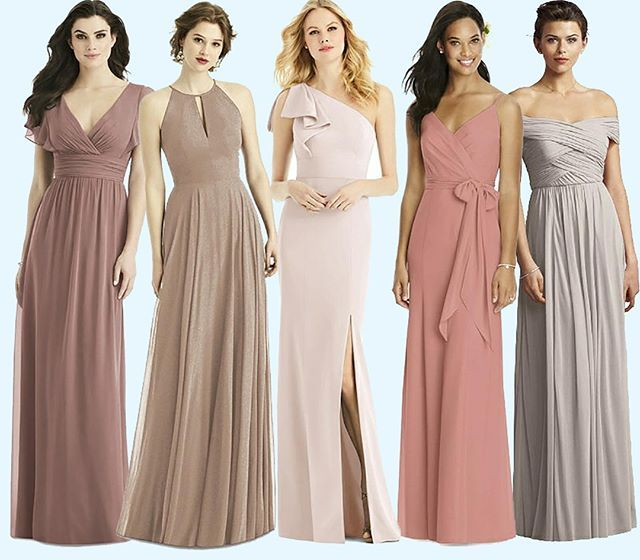All About Pinks And Neutrals Style 4526 Sienna 1502 Topaz Gold 6769 Blush Pink Bridesmaid Dresses Rose Bridesmaid Dresses Pink Bridesmaid Dresses Short