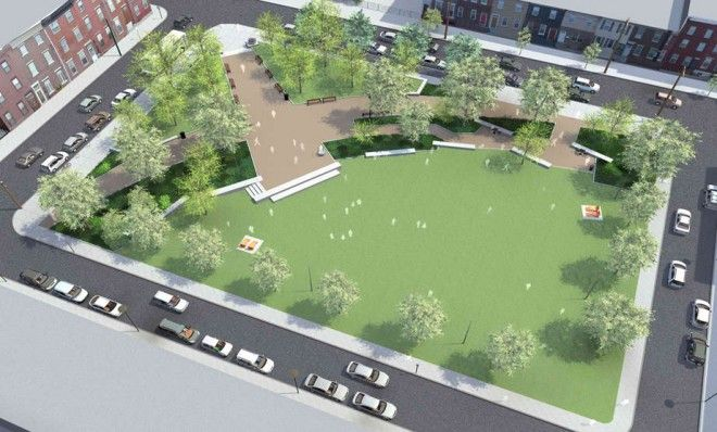 Rendering of the finished product in the Hawthorne neighborhood.: Hawthorne Neighborhood, Neighborhood Finding