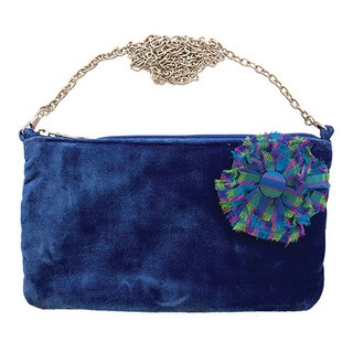 Get noticed when you go out this winter with our Rosette velvet evening bag.