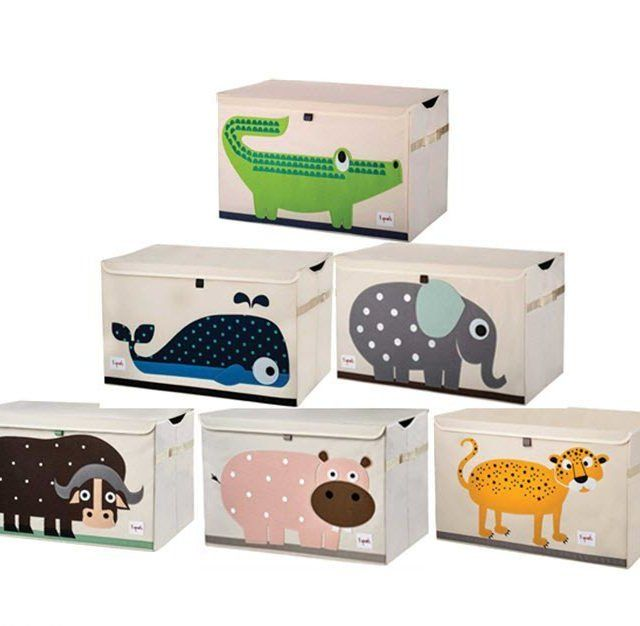 3 Sprouts Toy Chest - Because organisation is a beautiful thing. Especially when it comes to cleaning up after kids. These extra large storage boxes make it easy to tidy up quickly, and their adorable animal characters add a fun atmosphere to the room. Why Choose 3 Sprouts Toy Chest? Available in 6gorgeous characters, Green…