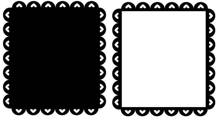 free svg  u2013 scalloped valentine heart frame