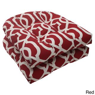 Pillow Perfect Outdoor New Geo Wicker Seat Cushion (Set of 2) | Overstock.com Shopping - Big Discounts on Pillow Perfect Outdoor Cushions & Pillows